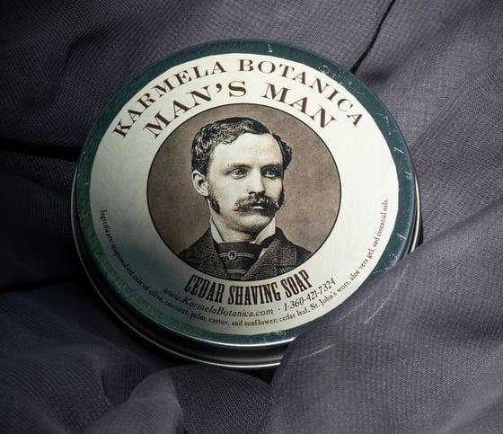 Image of Man's Man Cedar Shaving Soap