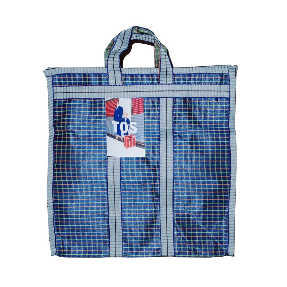 Image of Indian grocery bag Medium Blue by Tops of Sprouts