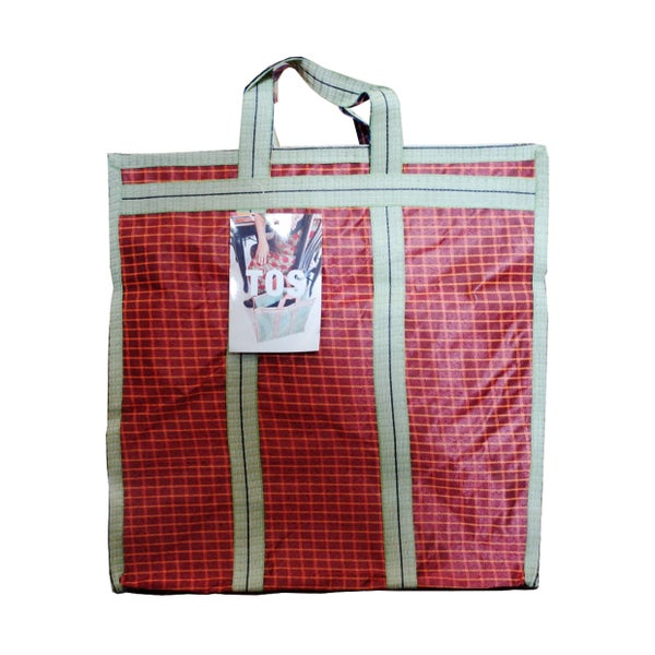 Image of Indian grocery bag Medium Red by Tops of Sprouts