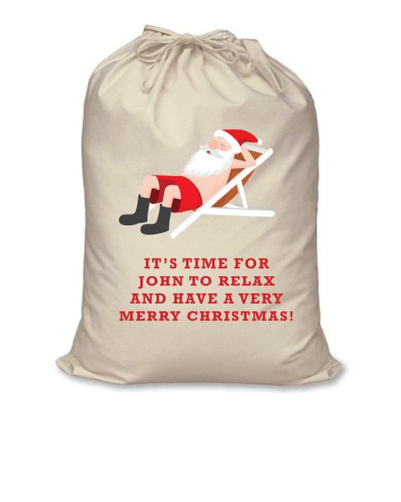 Image of Personalised Christmas Santa Sack - Aussie Christmas