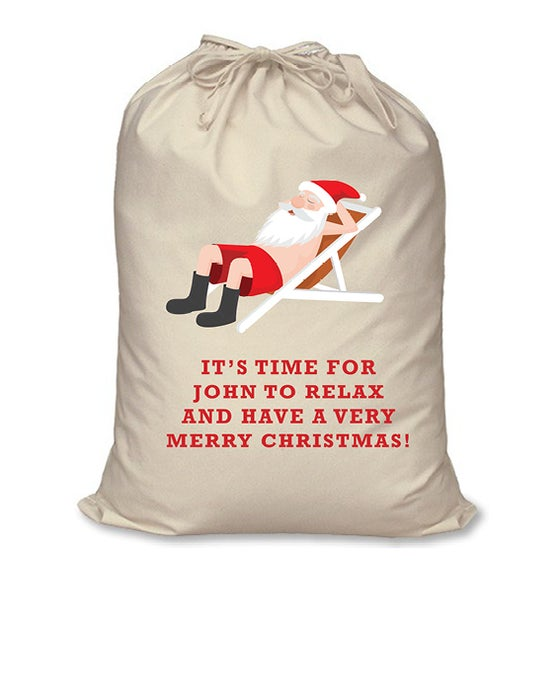 Image of Personalised Christmas Santa Sack - Aussie Christmas
