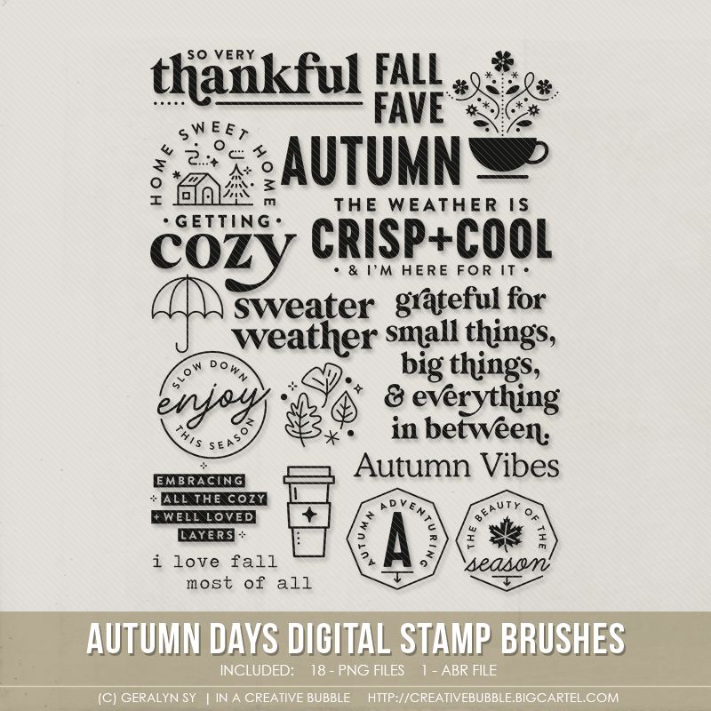 Image of Autumn Days Stamp Brushes (Digital)