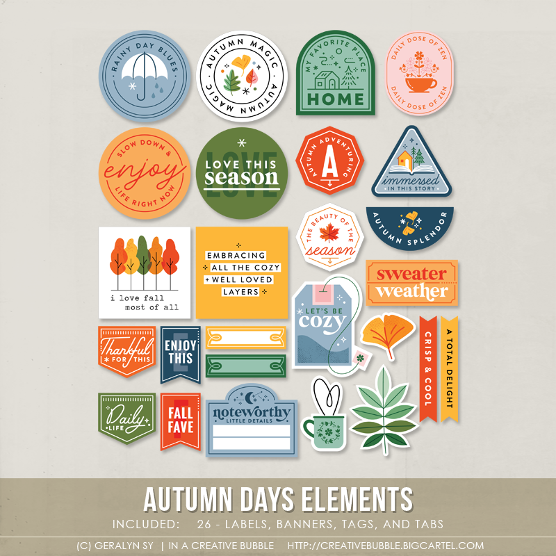 Image of Autumn Days Elements (Digital)