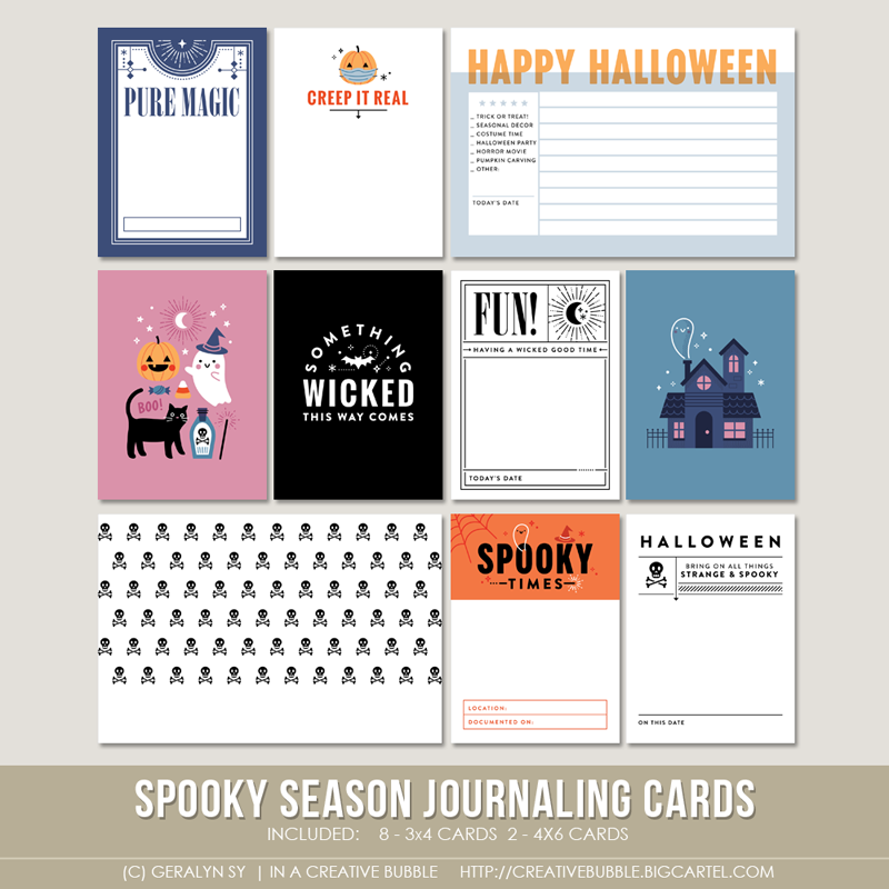 Image of Spooky Season Journaling Cards (Digital)