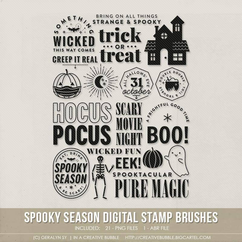 Image of Spooky Season Stamp Brushes (Digital)