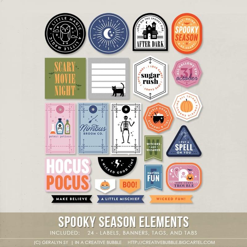 Image of Spooky Season Elements (Digital)
