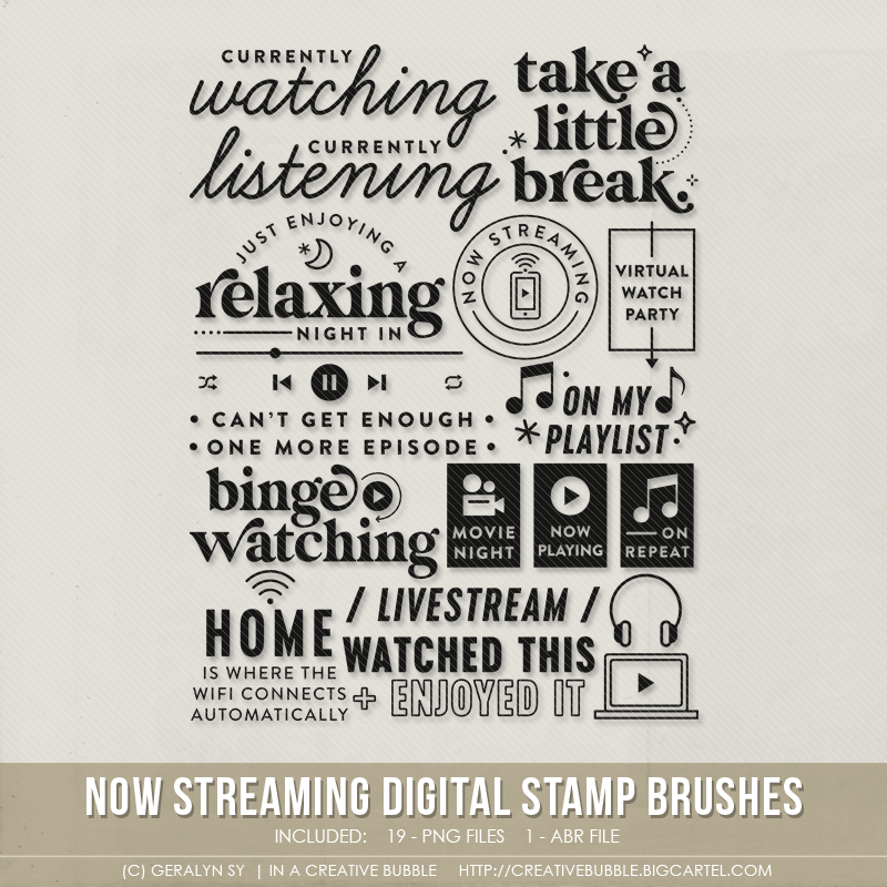 Image of Now Streaming Stamp Brushes (Digital)