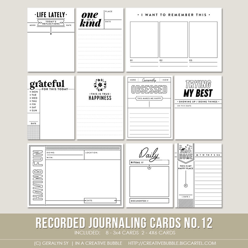 Image of Recorded Journaling Cards No.12 (Digital)