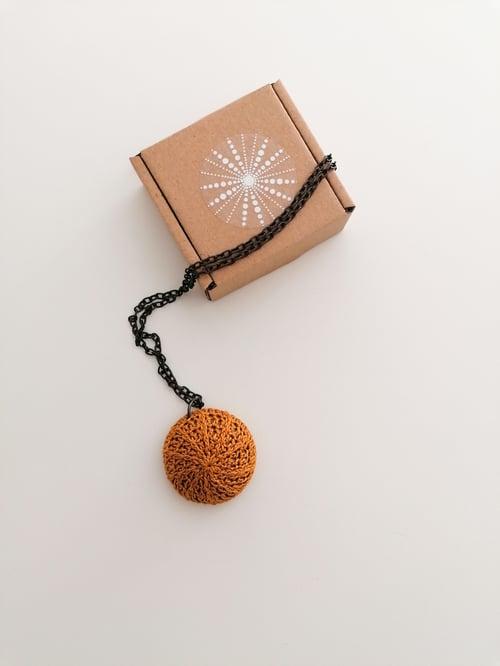 Image of Cognac Sea Urchin necklace, 20% OFF