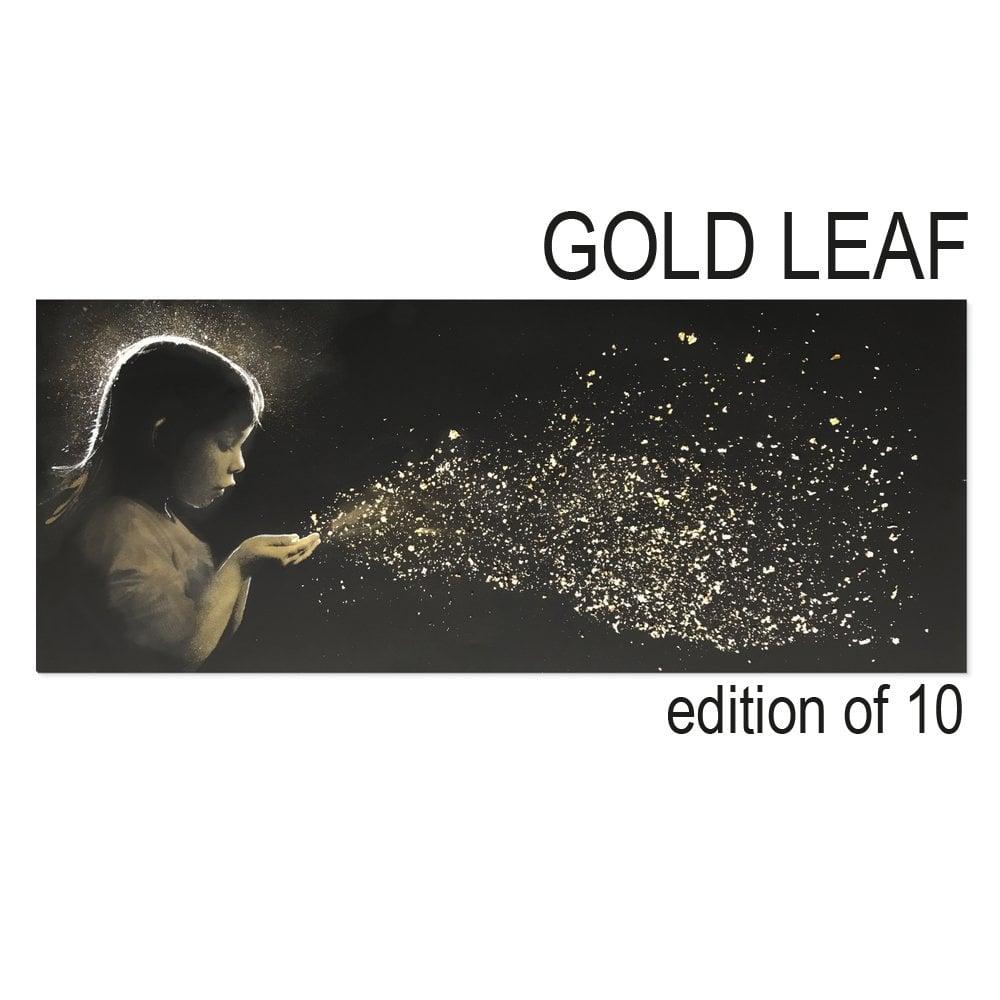 Image of SUPER NOVA GOLD LEAF - JOHN DOE - 7 COLOUR HAND FINISHED 24CT GOLD LEAF SCREENPRINT - LTD ED 10