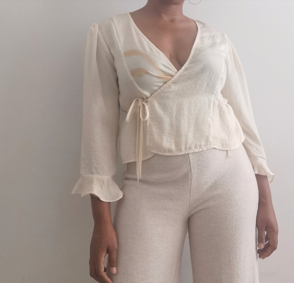 Image of frill wrap top