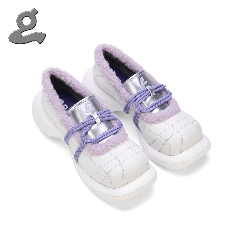 "Image of White-purple platform shoes""magician"""