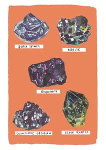 Image of Giclee Print Black Gems
