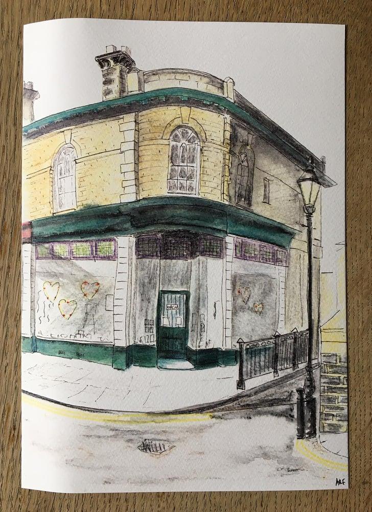 Image of Victoria Road corner, Saltaire - A4 print