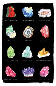 Image of Tea Towel - Astrology Rocks on Black