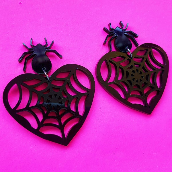 Image of Spider Web Earrings