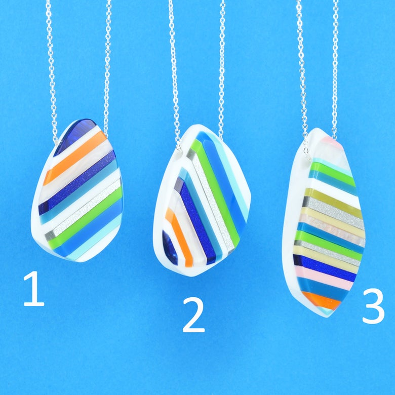 Image of Stripey Nugget Necklaces 1 to 3