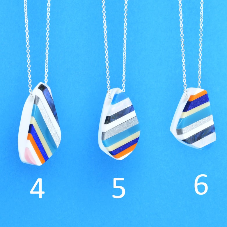 Image of Stripey Nugget Necklaces 4 to 6