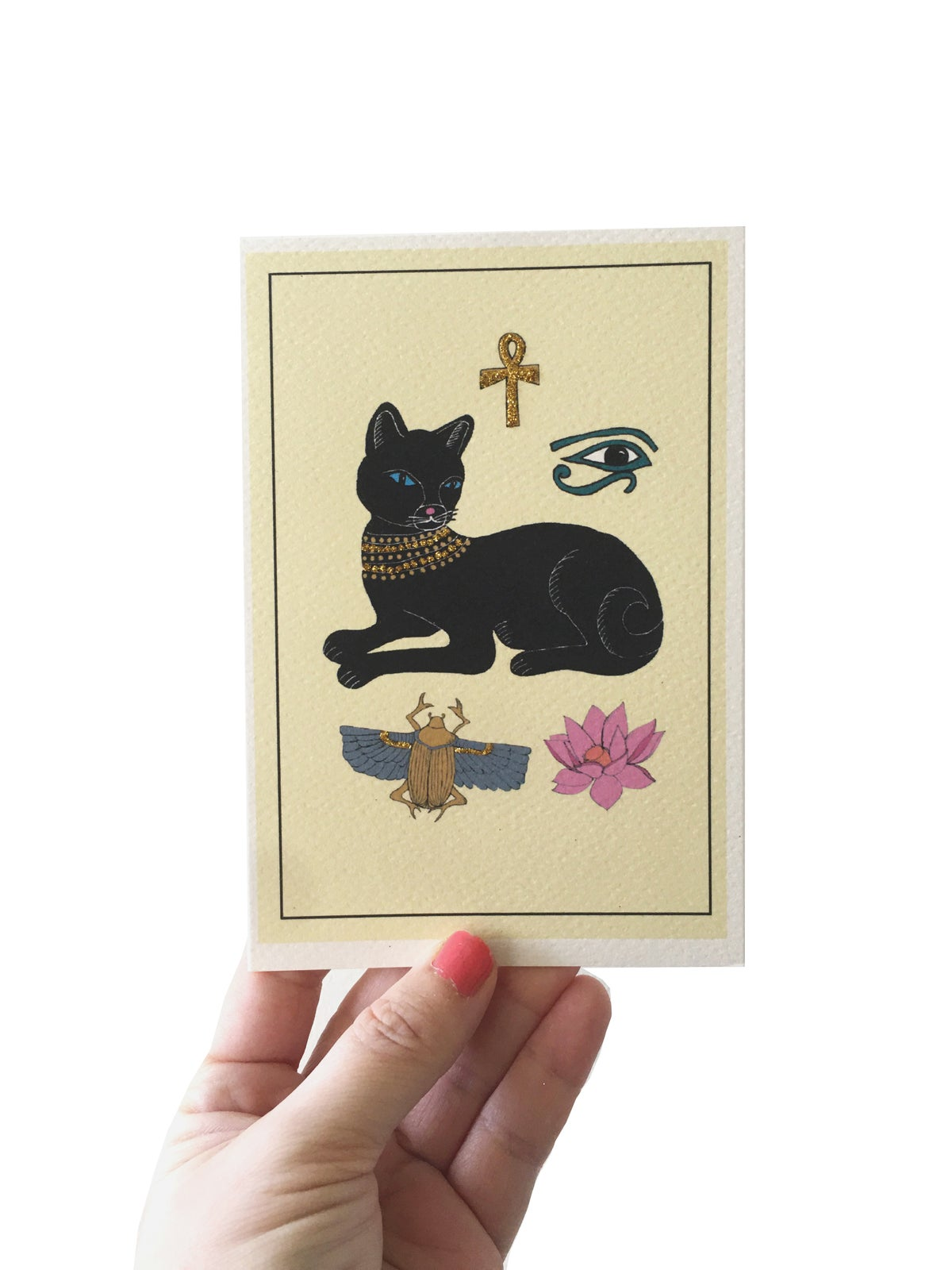 **NEW** Egyptian Cat Card