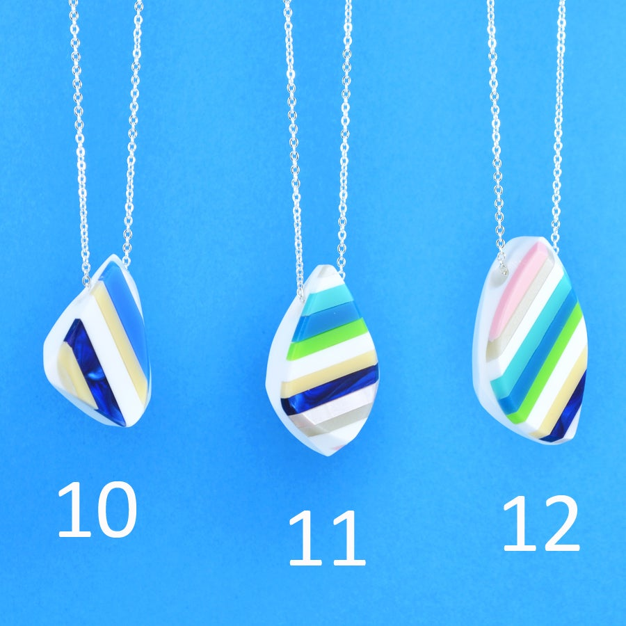 Image of Stripey Nugget Necklaces 10 to 12