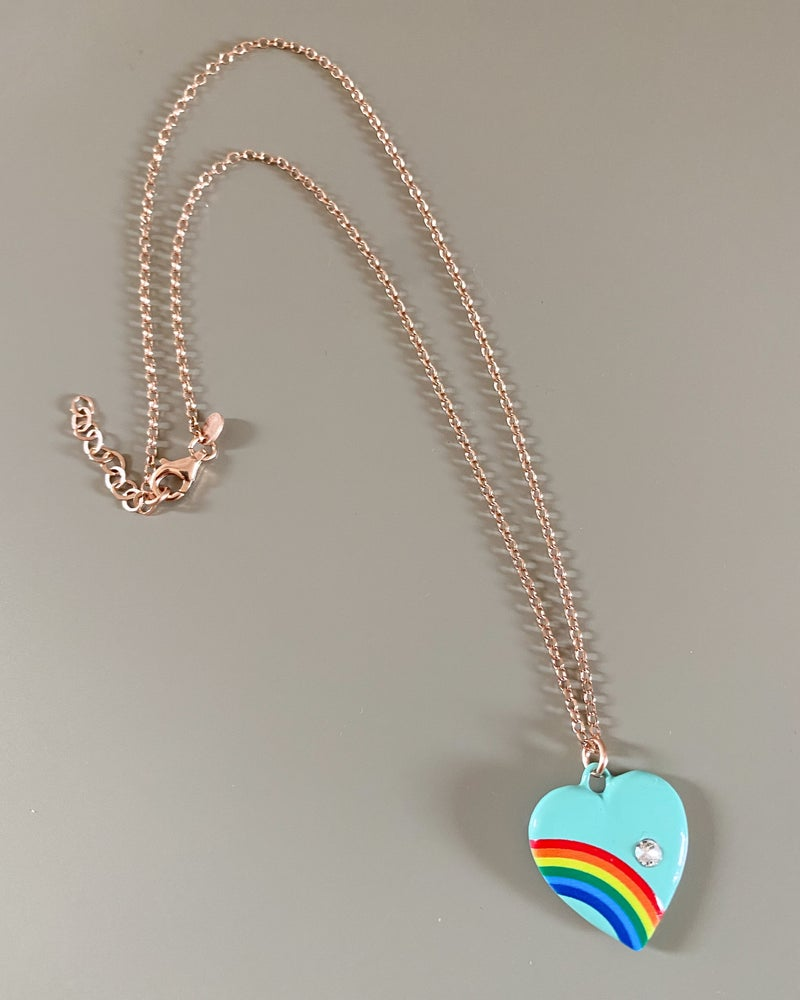Image of COLLANA RAINBOW HEART