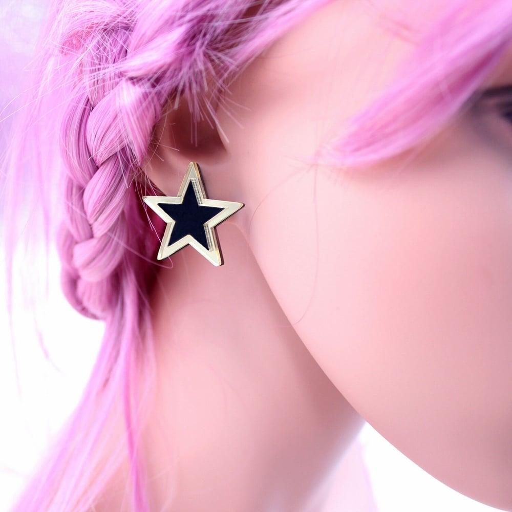 Blackstar Acrylic Earrings