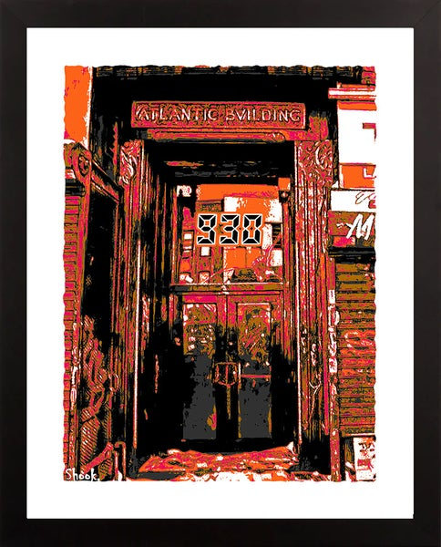"Image of Nightclub 9:30 Doorway Giclée Art Print (Fall Colors) - 11"" x 14"""