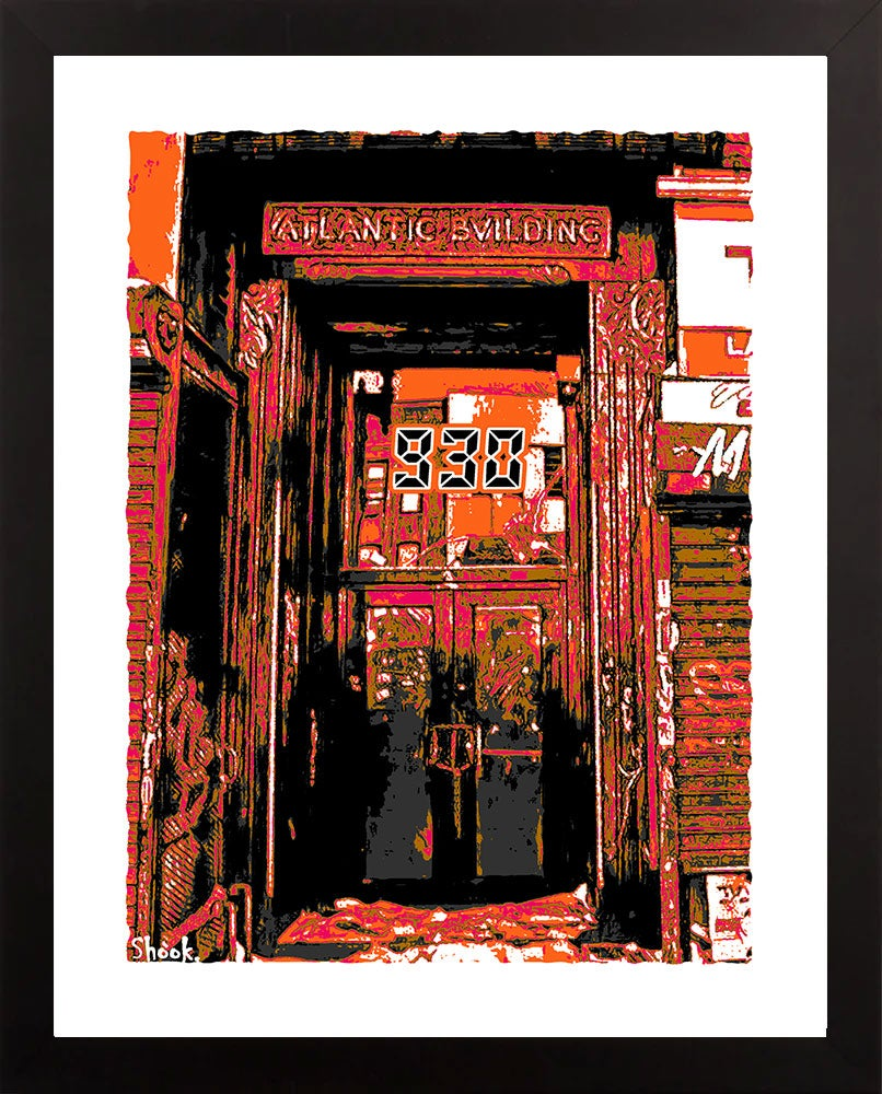 "Nightclub 9:30 Doorway Giclée Art Print (Fall Colors) - 11"" x 14"""