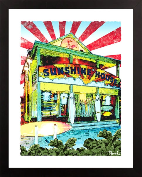 "Image of Sunshine House Surf Shop Ocean City MD Giclée Art Print - 11"" x 14"""