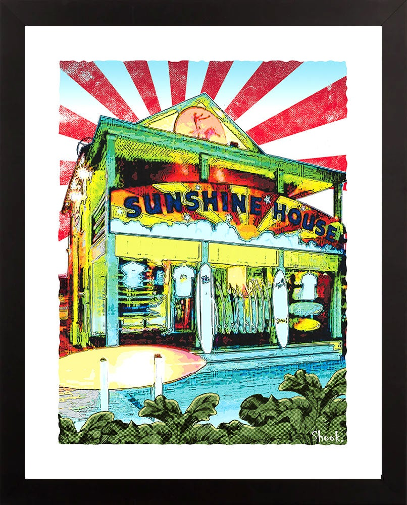 "Sunshine House Surf Shop Ocean City MD Giclée Art Print - 11"" x 14"""