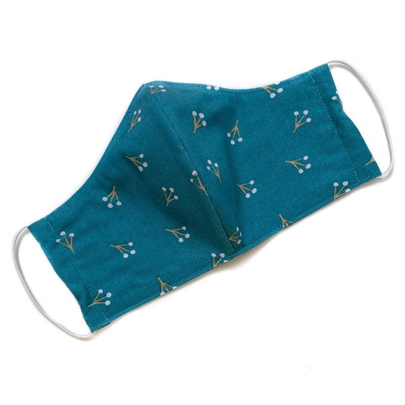Image of Fabric Face Mask (Teal Buds)