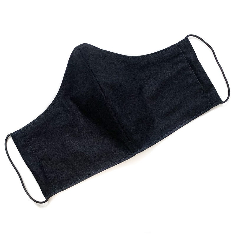 Image of Fabric Face Mask (Plain Black Cotton)