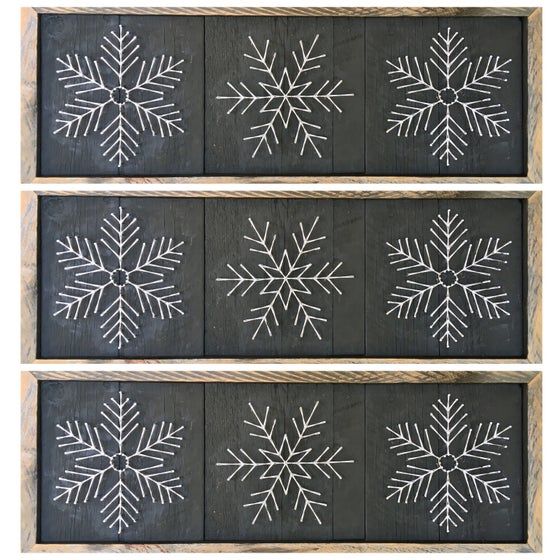 Image of Large snowflake Trio