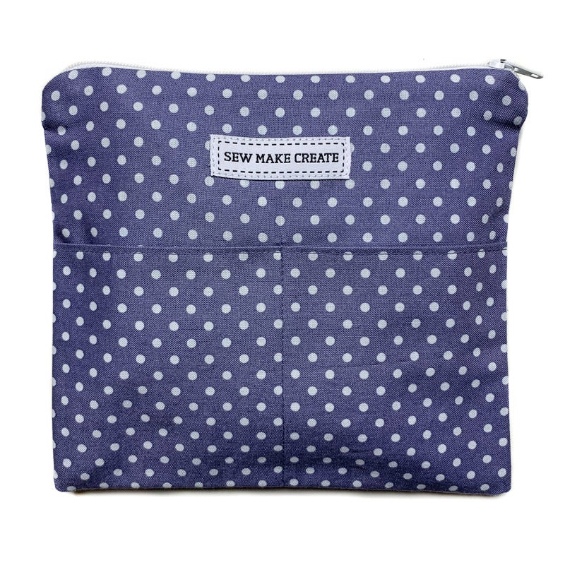 Image of Fabric Mask Bag (Periwinkle Spot)