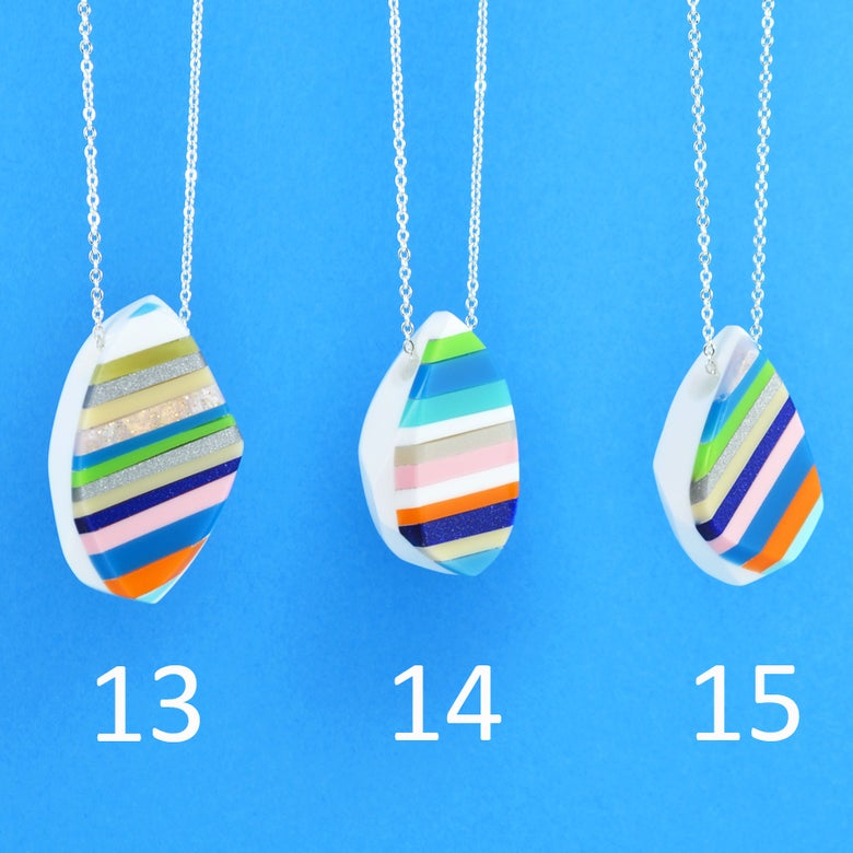 Image of Stripey Nugget Necklaces 13 to 15