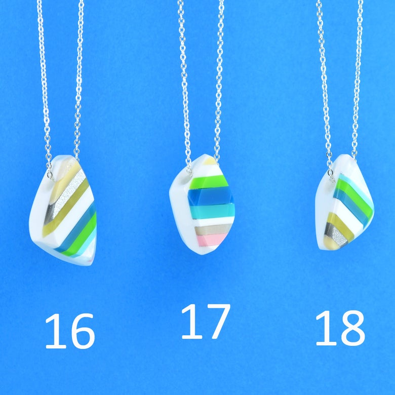 Image of Stripey Nugget Necklaces 16 to 18