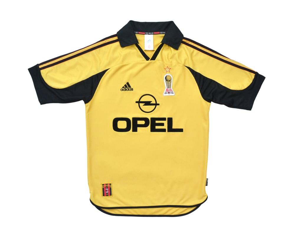 Image of 1999-00 Adidas AC Milan Centenary 4th Football Shirt S