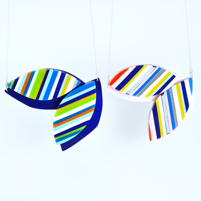 Image of Stripey Leaf Necklace