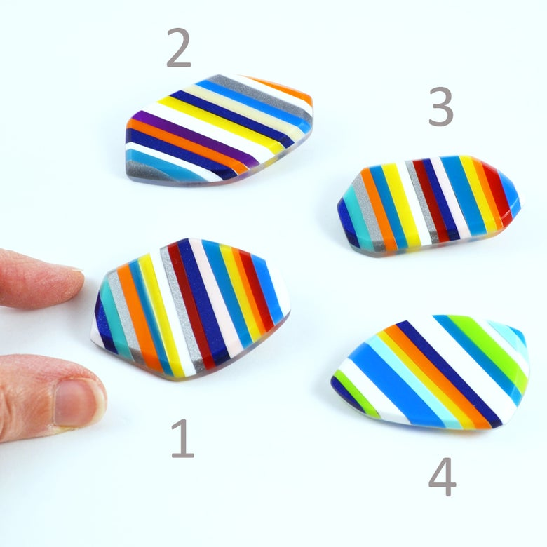Image of Stripey Nugget Brooches