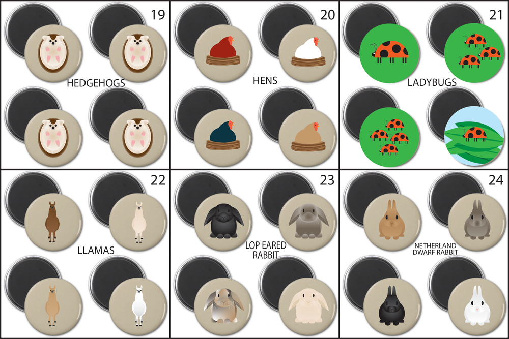 SIMPLY ANIMALS MAGNET SETS 1-24