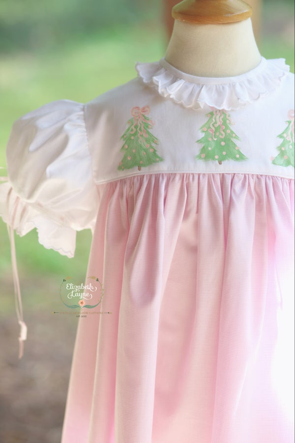 Image of Hand Painted Christmas Tree Dress