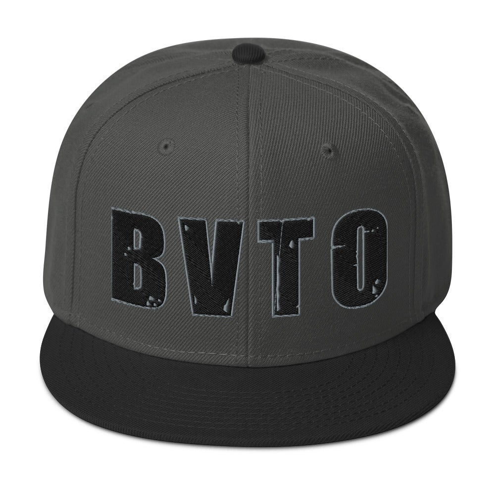 Charcoal 3D Embroidered  BVTO Snapback Hat