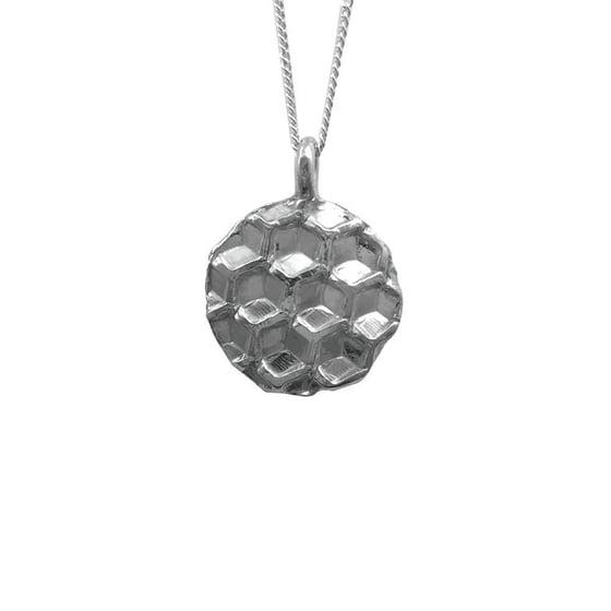 Image of Honeycomb Circle Necklace Medium