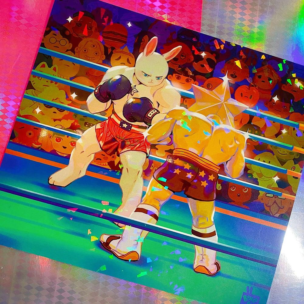 Boxerbun Holographic Print