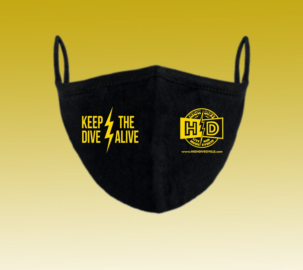 """""""Keep the Dive Alive"""" Cotton Earloop mask"""