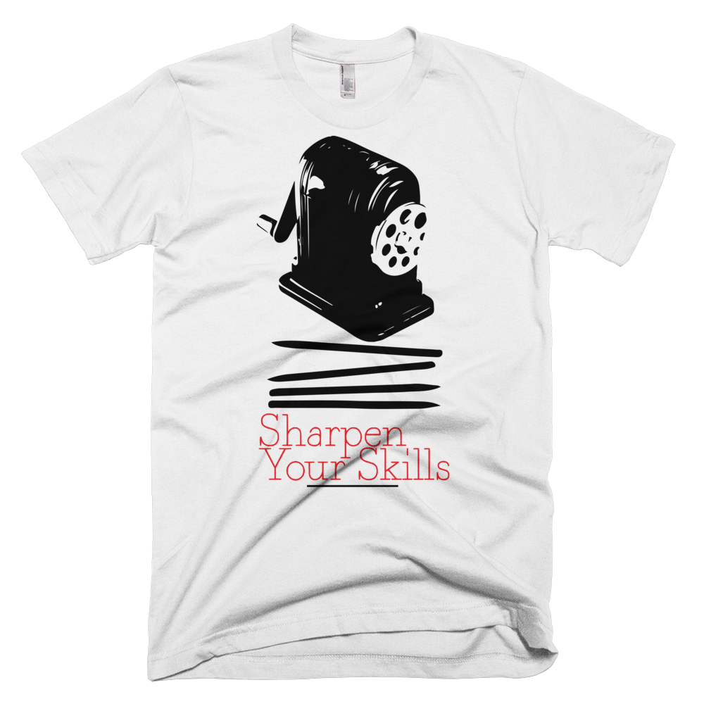 Image of Sharpen Your Skills White T-Shirt
