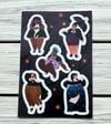 Goth Babes Vinyl Sticker Sheet