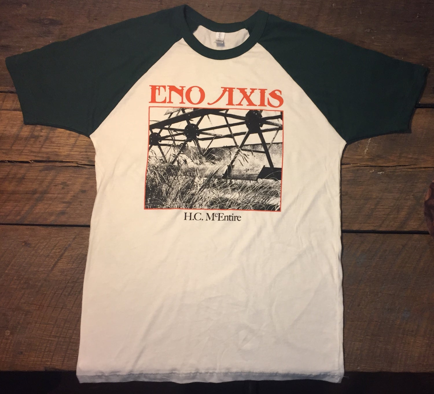 """Image of H.C. McEntire """"Eno Axis"""" t-shirt"""