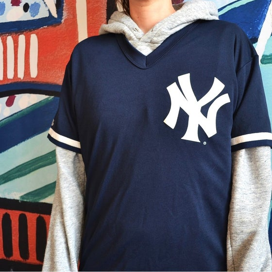 Image of Vintage 1990's New York Yankees Majestic Batting Practice Jersey Sz.M
