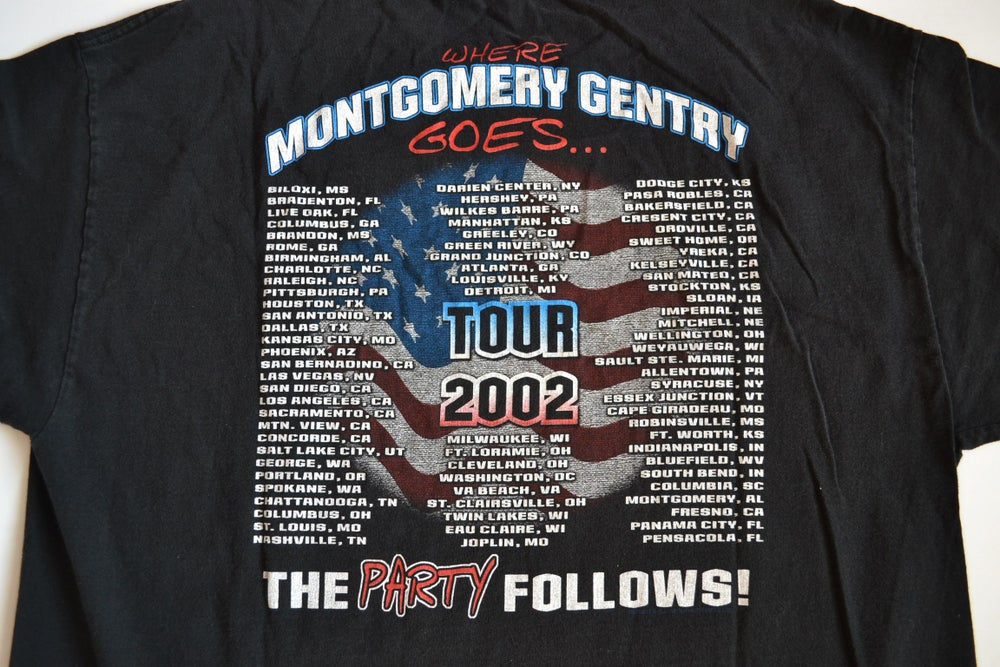 Image of Vintage 2002 Montgomery Gentry Country Music Concert Tour T-Shirt Sz.XXL